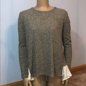Altar'd State Fanciful Ribbed Split Back Sweater